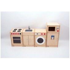 5 dalių medinė virtuvė