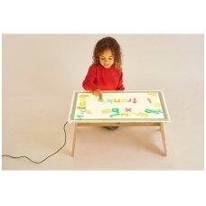 A2 dydžio spalvą keičiančios lentos ir stalo rinkinys