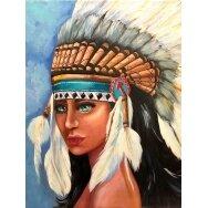 Deimantinės mozaikos rinkinys Vietinė ameriekietė - mergaitė