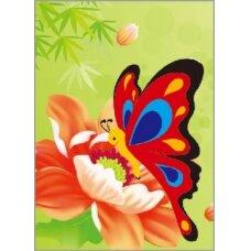 Deimantinės mozaikos rinkinys Drugelis ant gėlės