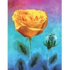 Deimantinės mozaikos rinkinys Geltona rožė