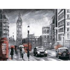 Deimantinės mozaikos rinkinys Londonas lietuje
