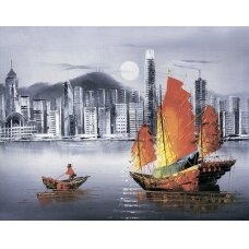 Deimantinės mozaikos rinkinys Naktinis Hong Kongas
