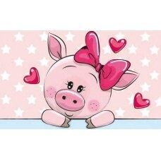 Deimantinės mozaikos rinkinys Romantiška kiaulytė