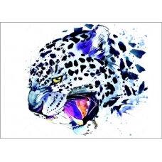 Deimantinės mozaikos rinkinys Sniego leoopardas