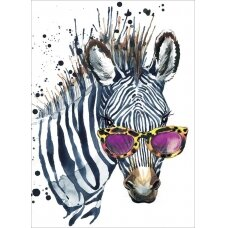 Deimantinės mozaikos rinkinys Zebras su akiniais