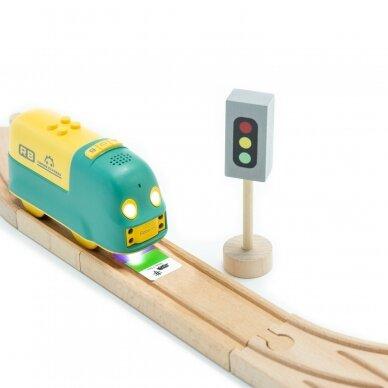 Edukacinis STEAM programuojamas traukinukas Robobloq Coding Express 2