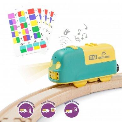 Edukacinis STEAM programuojamas traukinukas Robobloq Coding Express 4