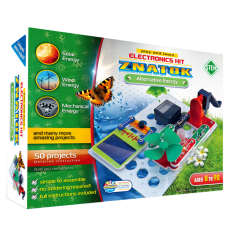 Elektronikos komponentų rinkinys Alternatyvi energija (50 eksperimentų)