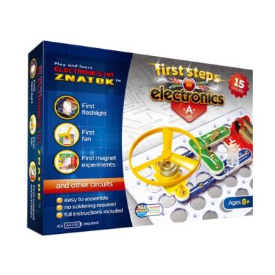 Elektronikos komponentų rinkinys A (15 eksperimentų)