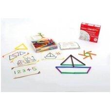 Lazdelių ir piešinukų iš lazdelių rinkinys - 200 vnt.