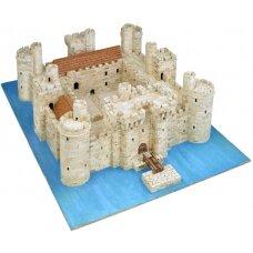Mažų plytelių modeliavimo konstruktorius Bodiamo pilis (Anglija)