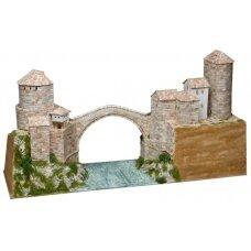 Mažų plytelių modeliavimo konstruktorius Mostaro Senasis tiltas (Bosnija ir Hercegovina)