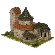 Mažų plytelių modeliavimo konstruktorius Ottmarsheim abatijos bažnyčia (Prancūzija)