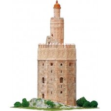 Mažų plytelių modeliavimo konstruktorius Torre del Oro bokštas (Ispanija)