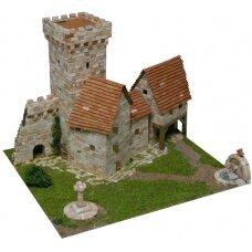 Mažų plytelių modeliavimo konstruktorius Viduramžių bokštas