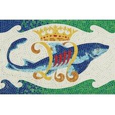 Mažų plytelių mozaika Delfinas