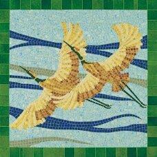 Mažų plytelių mozaika Paukščiai