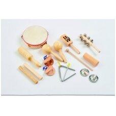 Mušamųjų instrumentų rinkinys - 10 vnt.
