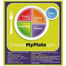 """""""MyPlate"""" plakatas su pagrindinėmis frazėmis"""
