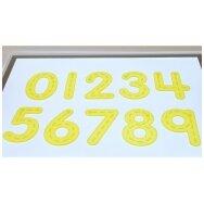 SiliShapes® geltoni peršviečiami skaičiai - 10 vnt.