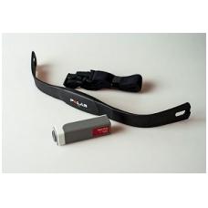 Širdies-dūžių jutiklis, (susideda iš transmiterio diržo, imtuvo ir elastinio liuko) (0.. 250 bpm)