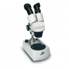 Stereomikroskopas, 40x, LED, besisukanti galva (230 V, 50/60 Hz)