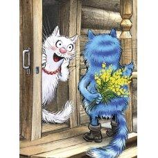 Tapybos pagal skaičius rinkinys Katės - Malonus siurprizas