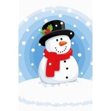 Tapybos pagal skaičius rinkinys Laimingas sniego senis