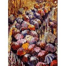 Tapybos pagal skaičius rinkinys Rudens skėčiai