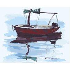 Tapybos pagal skaičius rinkinys Valtis ramiuose vandenyse
