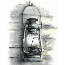 Tapybos pagal skaičius rinkinys Žibalinė lempa