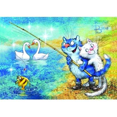 Tapybos pagal skaičius rinkinys Katės - Žvejybos laikas