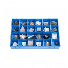 Vulkaninių akmenų ir mineralų kolekcija (24 vnt.)