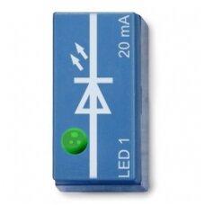 Žalias šviesos diodas, nukreiptas į viršų, P2W19